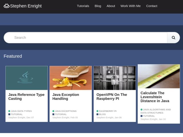 screenshot of Stephen Enright
