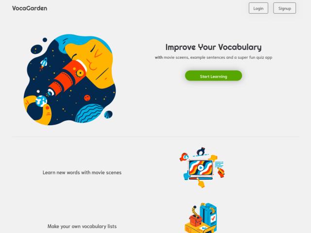 screenshot of Vocagarden