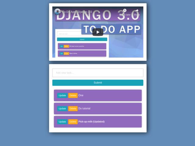 Django 3.0 To-Do App
