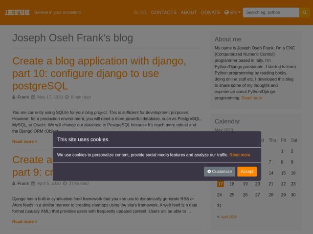 Joseph Oseh Frank's blog