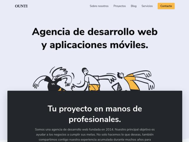 screenshot of ounti.com