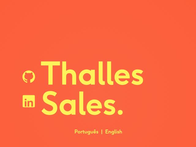 Thalles Sales - Portfolio