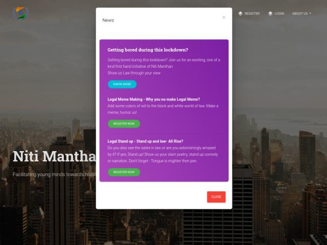 screenshot of Niti Manthan