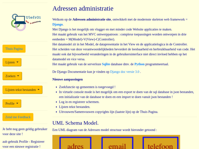 Address Application Dutch version