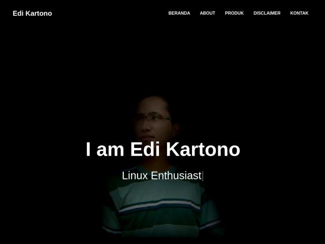 Edi Kartono | Linux Enthusiast, Python Enthusiast, Django
