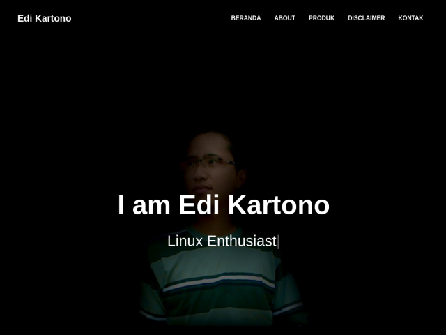 screenshot of Edi Kartono | Linux Enthusiast, Python Enthusiast, Django