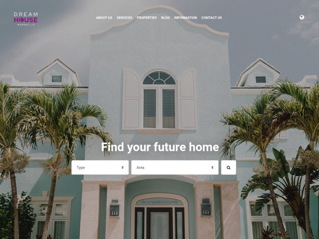 screenshot of Real Estate website