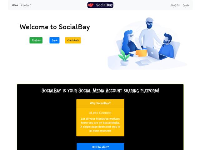 screenshot of SocialBay