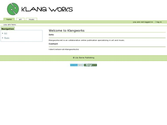 screenshot of klangworks.net