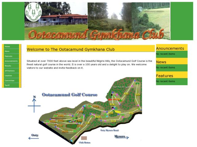 screenshot of The Ootacamund Gymkhana Club