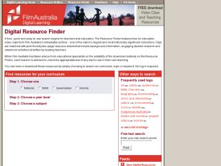 Film Australia Digital Resource Finder