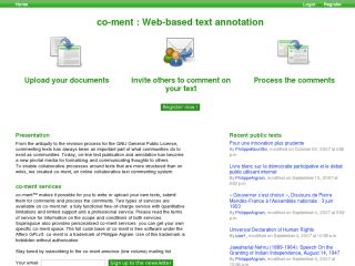 co-ment : Web-based text annotation