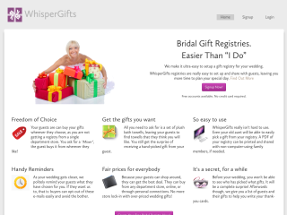 WhisperGifts - Bridal Registries Made Simple