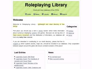 Roleplaying Library