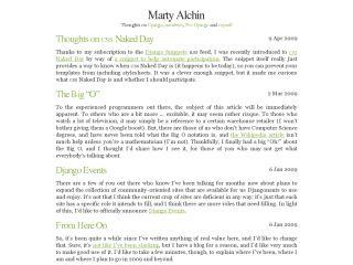 Marty Alchin's Blog