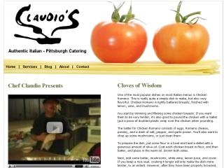Chef Claudio - Pittsburgh Catering