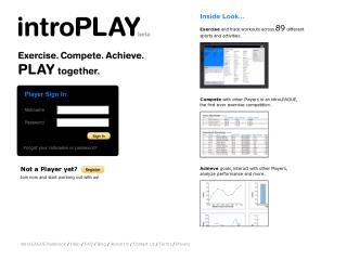 introPLAY Exercise. Compete. Achieve.