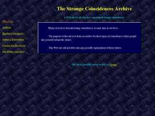 The Strange Coincidences Archive