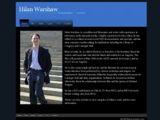 Hilan Warshaw | filmmaker/writer