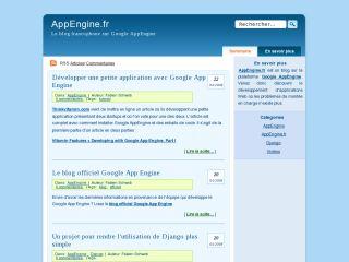 Blog AppEngine.fr