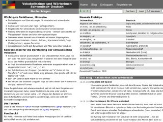 Vocabulary trainer and dictionary Swedish-German