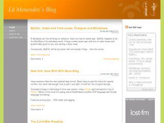 Ed Menendez's Blog