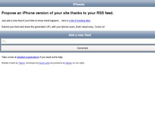 iPheeds, put your site on an iPhone