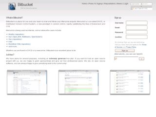 Bitbucket.org - Mercurial Hosting