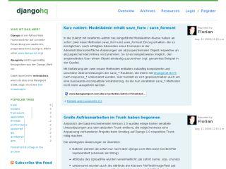 DjangoHQ - German django news aggregator
