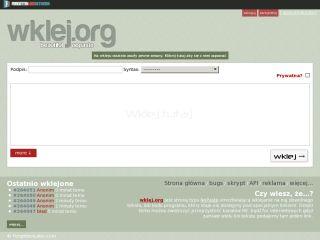 wklej.org nopaste service