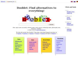 A search-engine to search for the alternatives