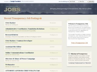 Transparency Jobs
