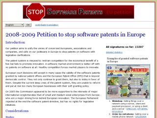 European petition to stop software patents