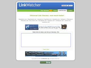 Linkwatcher.org - Universal Link Checker