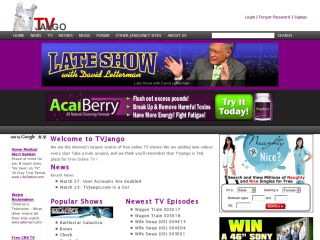 TVJango: Watch Free TV Online