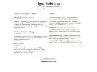 Igor Sobreira's weblog