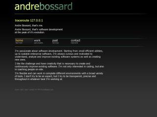 Andre Bossard, Web CV