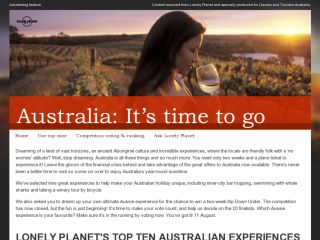 Australia: It's time to go