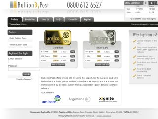 BullionByPost Gold Bars
