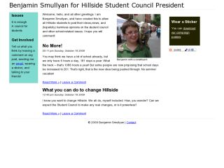 Benjamin Smullyan for Hillside Student Council President