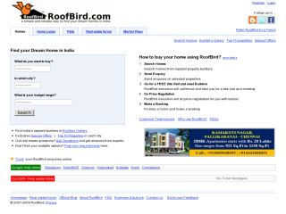 RoofBird.com|Residential Real Estate Portal - A SIMPLE and RELIABLE way to find dream home in India