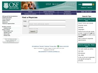 OSF Doctor Directory