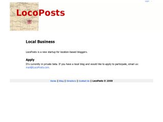 LocoPosts - Local businesses and bloggers
