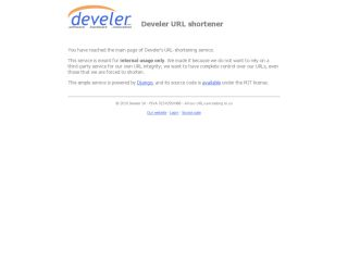 Develer's URL shortener