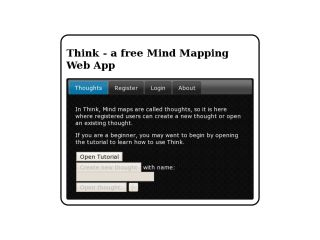 Think - free Mind mapping Web App