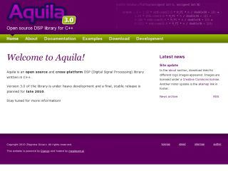 Aquila - a C++ library for digital signal processing