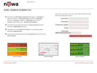 Nijiwa - Spanish Blog Reader Tool