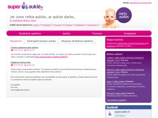 Lithuanian website for nannies and parents