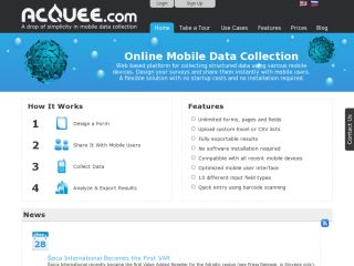 Acquee Mobile Web Data Collection
