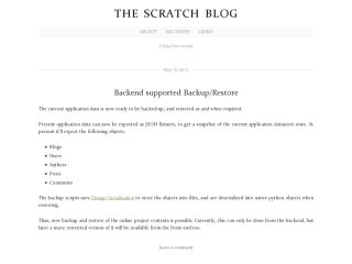 ScratchBlog - A blog from scratch